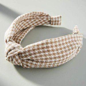 Anthropologie Houndstooth Headband